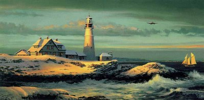 Lightkeeper's Gift- Signed By The Artist								 – Paper Lithograph – Limited Edition – 950 S/N – 16 3/4 x 33 1/2
