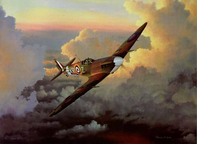 A Time Of Eagles (Spitfire)- Signed By The Artist – PaperLithograph  – Limited Edition  – 1250S/N  –  23 1/4x31