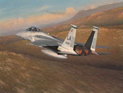 Advantage Eagle (F-15)- Signed By The Artist – PaperLithograph  – Limited Edition  – 1000S/N  –  22 1/2x27 1/2