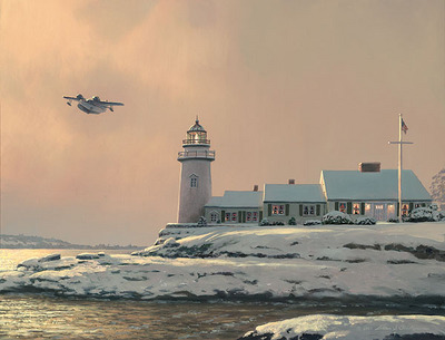 Afternoon Departure At Stoney Point Light- Signed By The Artist								 – Canvas Giclee – Limited Edition – 175 S/N – 13 x 17