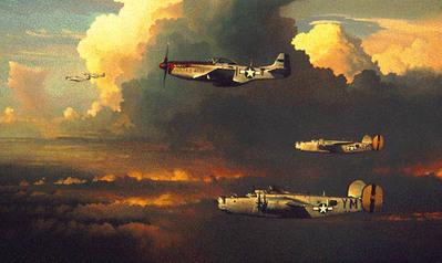 Among The Columns Of Thor (B-24)- Signed By The Artist – PaperLithograph  – Limited Edition  – 1000S/N  –  18x30