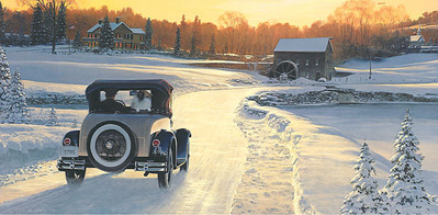 A Christmas Leave – When Dreams Come True (C-47)- Signed By The Artist – PaperLithograph – Limited Edition – 1500S/N – 14 3/4x30