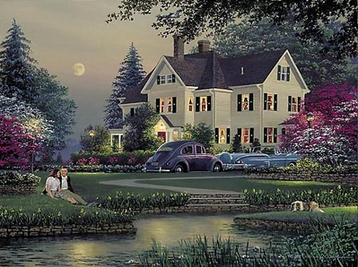 Courtyard- Signed By The Artist – PaperLithograph – Limited Edition – 950S/N – 14 3/4x19 3/4
