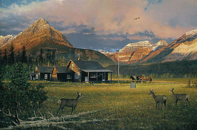 Early Morning Visitors- Signed By The Artist – PaperLithograph – Limited Edition – 1250S/N – 20x30