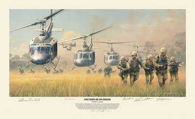 First Boots On The Ground- Signed By The Artist								 – Paper Lithograph – Limited Edition – 800 S/N – 14 x 28