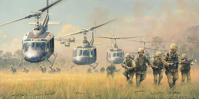 First Boots On The Ground- Signed By The Artist								 – Canvas Giclee – Limited Edition – 100 S/N – 19 x 38 –
