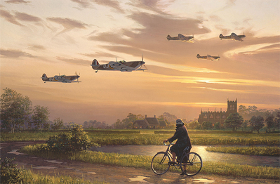 On Wings And A Prayer (Spitfire)- Signed By The Artist – PaperLithograph – Limited Edition – 950S/N – 17 3/8x26 1/4