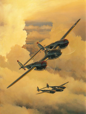 Thunder & Lightning (P-38)- Signed By The Artist – PaperLithograph  – Limited Edition  – A/P  –  20x15 1/4
