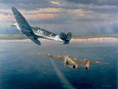 Welcome Home Yank (B-24) (Spitfire)- Signed By The Artist – PaperLithograph – Limited Edition – 1000S/N – 22 1/2x27 1/2 –