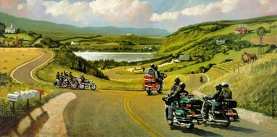 All Roads Lead To Sturgis, SD- Signed By The Artist								 – Paper Lithograph – Limited Edition – 1250 S/N – 15 x 30 –