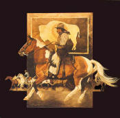 Northern Plains Cowboy- Signed By The Artist – PaperLithograph  – Limited Edition  – 500S/N  –  17x17  –