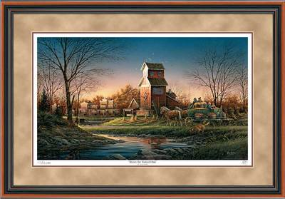 Above The Fruited Plain – Framed- Signed By The Artist								 – Paper Lithograph – Limited Edition – 29500 S/N – 26 1/2 x 38 3/8