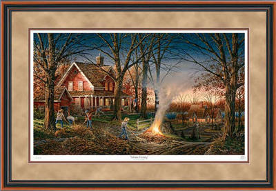 Autumn Evening – Framed- Signed By The Artist – PaperLithograph  – Limited Edition  – 2950A/P  –  28 1/2x42