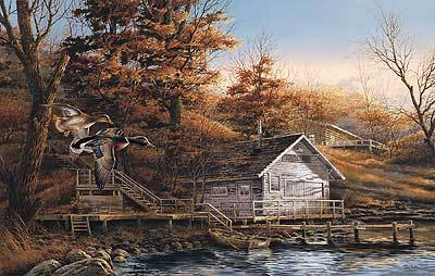 Autumn Shoreline- Signed By The Artist – PaperLithograph – Limited Edition – 14500S/N – 15 1/2x24