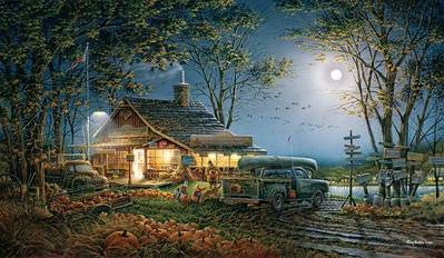 Autumn Traditions- Signed By The Artist – CanvasLithograph  – Limited Edition  – 1950S/N  –  18 1/2x32
