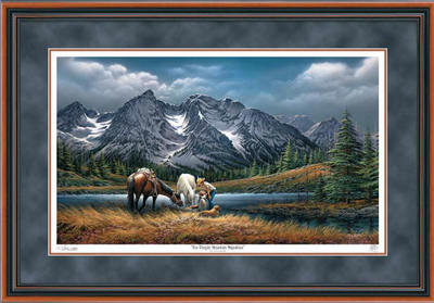 For Purple Mountain Majesties – Framed- Signed By The Artist – PaperLithograph – Limited Edition – 29500S/N – 26 1/2x38 3/8