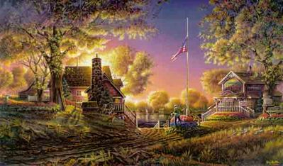 Good Evening America- Signed By The Artist – PaperLithograph – Limited Edition – 9500S/N – 18 1/2x32