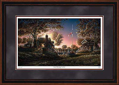 Good Evening America – Framed- Signed By The Artist – PaperLithograph – Limited Edition – 9500S/N – 28 1/2x42
