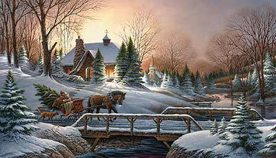Heading Home- PaperLithograph  – Limited Edition  – 2006Unsigned  –  18 1/2x32
