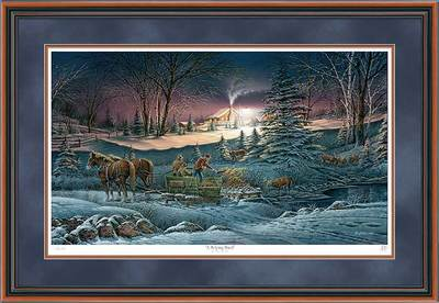 A Helping Hand – Framed- Signed By The Artist – PaperLithograph – Limited Edition – 9500S/N – 29 1/2x44