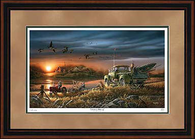 Patiently Waiting – Framed- Signed By The Artist – PaperLithograph – Limited Edition – 9500S/N – 28 1/2x42