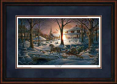 Racing Home – Framed- Signed By The Artist								 – Paper Lithograph – Limited Edition – 19500 S/N – 24 x 34