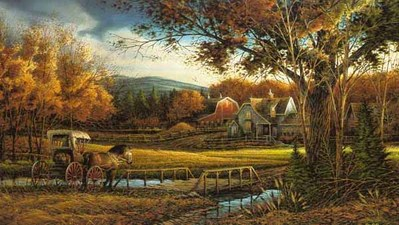 Wednesday Afternoon – Fall- Signed By The Artist – PaperLithograph – Limited Edition – 6800S/N – 16x28
