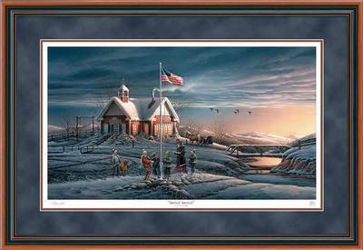 America, America – Framed- Signed By The Artist – PaperLithograph  – Limited Edition  – 29500S/N  –  26 1/2x38 3/8