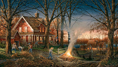 Autumn Evening- Signed By The Artist – PaperLithograph  – Limited Edition  – A/P  –  18 1/2x32
