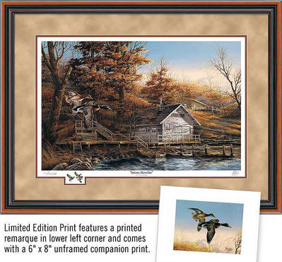 Autumn Shoreline – Framed- Signed By The Artist								 – Paper Lithograph – Limited Edition – 14500 S/N – 25 1/2 x 34