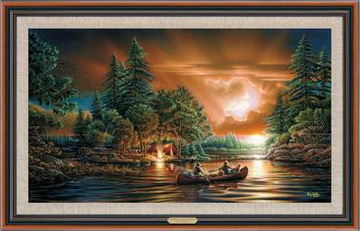 Evening Rendezvous – Framed- Signed By The Artist								 – Canvas Lithograph – Limited Edition – 500 S/N – 25 x 38 1/2