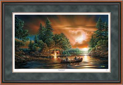 Evening Rendezvous – Framed- Signed By The Artist								 – Paper Lithograph – Limited Edition – 9500 S/N – 28 1/2 x 42