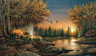 Evening Solitude- Signed By The Artist – PaperLithograph – Limited Edition – 9500S/N – 18 3/8x32