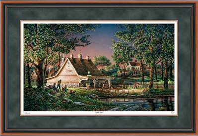 Family Time – Framed- Signed By The Artist – PaperLithograph – Limited Edition – 9500S/N – 28 1/2x42