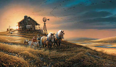 For Amber Waves Of Grain- Signed By The Artist – PaperLithograph – Limited Edition – 29500S/N – 16 1/2x28 3/8