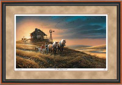 For Amber Waves Of Grain – Framed- Signed By The Artist – PaperLithograph – Limited Edition – 29500S/N – 26 1/2x38 3/8