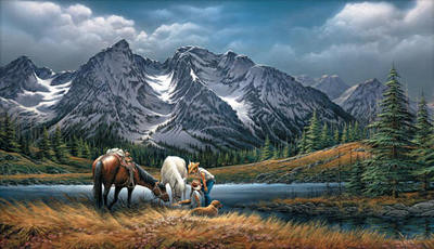 For Purple Mountain Majesties- Signed By The Artist – PaperLithograph – Limited Edition – 29500S/N – 16 1/2x28 3/8