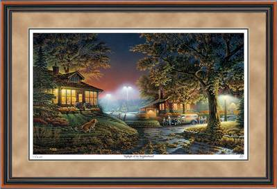 Highlight Of The Neighborhood – Framed- Signed By The Artist								 – Paper Lithograph – Limited Edition – 9500 S/N – 28 1/2 x 42