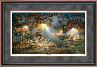 Our Friends – Framed- Signed By The Artist								 – Paper Lithograph – Limited Edition – 9500 S/N – 26 1/2 x 38 3/8
