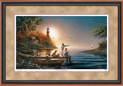From Sea To Shining Sea – Framed- Signed By The Artist – PaperLithograph – Limited Edition – 29500S/N – 26 1/2x38 3/8