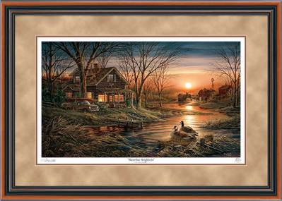 Shoreline Neighbors – Framed- Signed By The Artist								 – Paper Lithograph – Limited Edition – 29500 S/N – 24 x 34