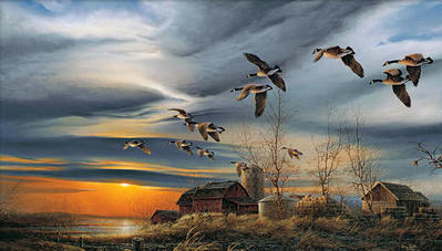 Silent Sunset- Signed By The Artist – PaperLithograph – Limited Edition – S/N – 14x24