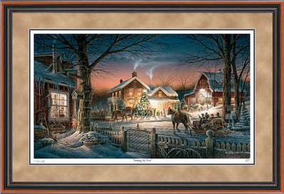Trimming The Tree – Framed- Signed By The Artist – PaperLithograph  – Limited Edition  – 19500S/N  –  28 1/2x42