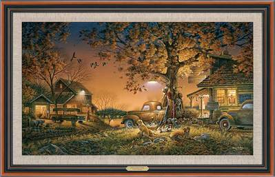 Twilight Time – Framed- Signed By The Artist								 – Canvas Lithograph – Limited Edition – 1950 S/N – 24 1/2 x 38