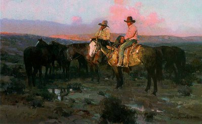 Arizona Cowboys- Signed By The Artist – PaperLithograph – Limited Edition – A/P – 18 7/8x30