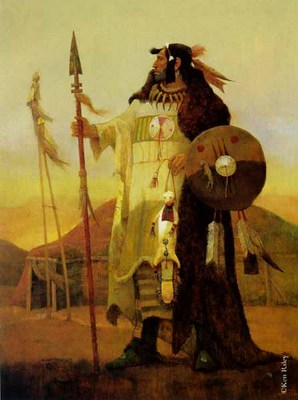 Legend Of The Mandan- Signed By The Artist – PaperMixed-Media  – Limited Edition  – 250S/N  –  31x24