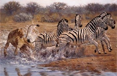 Ambush- Signed By The Artist								 – Canvas Giclee – Limited Edition – 25 S/N – 32 x 50 –