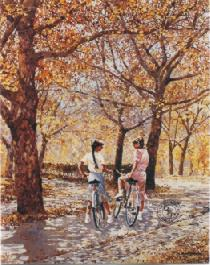 Autumn Ride- Signed By The Artist								 – Paper Lithograph – Limited Edition – 950 S/N – 24 3/8 x 19 1/2
