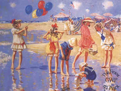 Balloons And Seashells- Signed By The Artist – PaperLithograph  – Limited Edition  – 950S/N  –  16x21 1/2