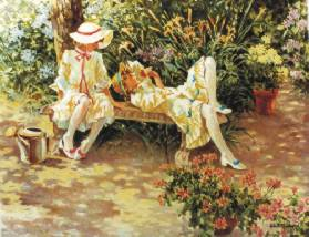 Garden Fragrance- Signed By The Artist – PaperLithograph  – Limited Edition  – 950S/N  –  16x20 1/2